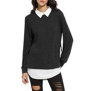 NEW Collared Long Sleeve Sweatshirt